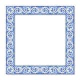 Ramdesign med kallade typiska portugisiska garneringar royaltyfri bild