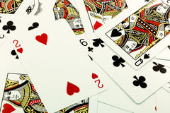 Ramdom cards2. Random high Cards, diamond and hearts stock illustration