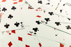 Ramdom cards. Random low Cards, diamond, hearts Stock Illustration