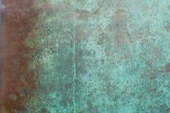 Rame con un fondo dell'ossido di ampia area Fotografia Stock