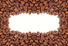 Rame of grains of black coffee Stock Photos