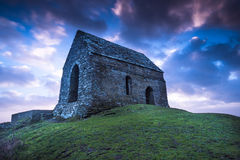 Rame Head lonely Chapel in Cornwall, UK Stock Images