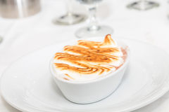 Ramekin of Baked Alaska Stock Images