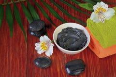 Ramekin con fango negro Fotografía de archivo libre de regalías