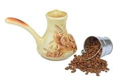 Ramekin para preparar el café Fotografía de archivo libre de regalías