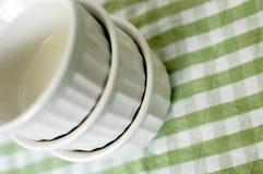 Ramekins do brulée de Crème Fotografia de Stock Royalty Free