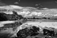 Ramelton海滩, Co Donegal 图库摄影
