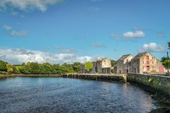 Ramelton Warehouses. This is a picture of the old warehouses along the river front in Ramelton in Donegal, Ireland royalty free stock photo