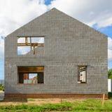 Ramen av ett nytt hus Royaltyfria Foton