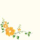 Ramen av guld- blommor för skönhet Arkivbilder