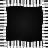 Ramen av pianotangenter på en mörk bakgrund också vektor för coreldrawillustration Arkivfoto