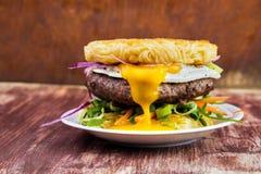 Free Ramen Beef Burger Stock Photography - 147359492
