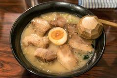 Ramen chashu. Japanese noodle with roasted pork Royalty Free Stock Images