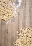 Ramen, chinese vermicelli on wooden background Stock Photo