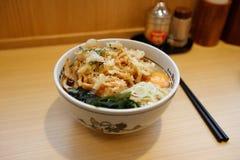 Ramen con tempura Fotografie Stock