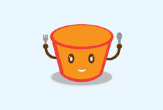 Ramen cup ilustration Stock Images