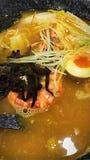 Ramen de los mariscos Foto de archivo libre de regalías