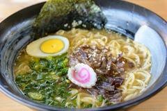 Ramen do Miso, sopa de macarronete, alimento japonês Foto de Stock