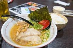 Ramen e riso giapponese Fotografia Stock Libera da Diritti
