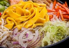 Ramen egg noodle soup Stock Photos