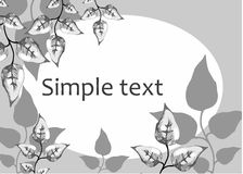 Ramen för text lämnar konturdiagrammet royaltyfri bild