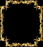 ramen förgyller illustrationen Royaltyfri Fotografi