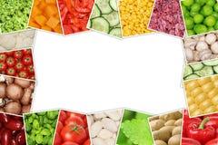 Ramen från grönsaker gillar tomater, paprika, grönsallat, potatisar Arkivbild