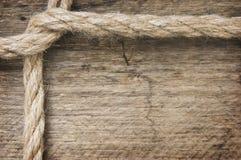 ramen gjorde det gammala repet Arkivbild