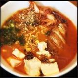 Ramen mit Tofu Stockfotos