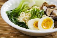 Ramen Mushroom Soup Stock Photo