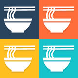 Ramen noodle icon set Vector EPS10, Great for any use. Royalty Free Stock Photography