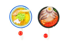 Ramen noodle magnet with hanger Stock Images