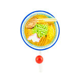 Ramen noodle magnet with hanger Royalty Free Stock Images