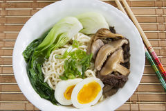 Ramen Noodle Mushroom Soup Royalty Free Stock Photo