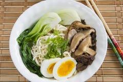 Ramen Noodle Mushroom Soup Royalty Free Stock Photo