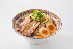 Ramen noodle with pork and eggs Royalty Free Stock Image