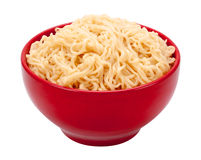 Ramen Noodles in a Bowl. Ramen Noodles in a Red Bowl. Isolated on white with a clipping path. The image is in full focus, front to back Stock Images