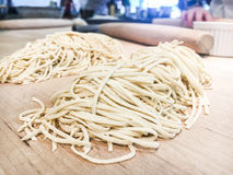 Ramen Noodles. Fresh ramen noodles made from scratch royalty free stock image