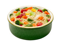 Ramen Noodles with Stir Fried Vegetables Royalty Free Stock Images