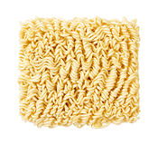Ramen Noodles Uncooked. A block of uncooked Ramen Noodles isolated on white. The isolation is on a transparent background in the PNG format royalty free stock photo