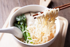 Ramen, nourriture pendant le temps rapide Photo stock
