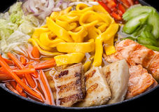 Ramen soup with salmon Royalty Free Stock Photo