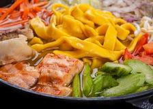 Ramen soup with salmon Royalty Free Stock Image
