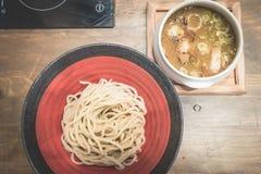 Ramen Tsukemen/alimento japonês Fotografia de Stock