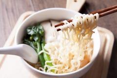 Ramen, voedsel voor snelle tijd Stock Foto