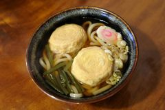 Ramen with Yuba (tofu skin). A famous delicacy where the main ingredient is Yuba-a Chinese and Japanese food product made from soybeans Stock Photo