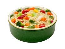 Ramennoedels met Stir Fried Vegetables Royalty-vrije Stock Afbeeldingen