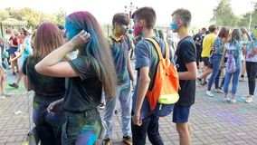 Festival of colors Heat 9. royalty free stock images