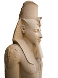 Rameses II. Statue of Rameses II isolated. Memphis museum, Egypt Royalty Free Stock Images