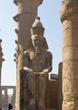Rameses II au temple de Luxor Image libre de droits